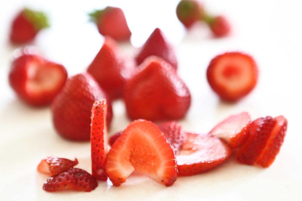 making Strawberry Cake