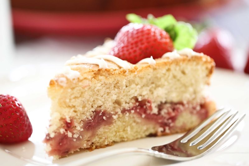 Strawberry Breakfast Cake