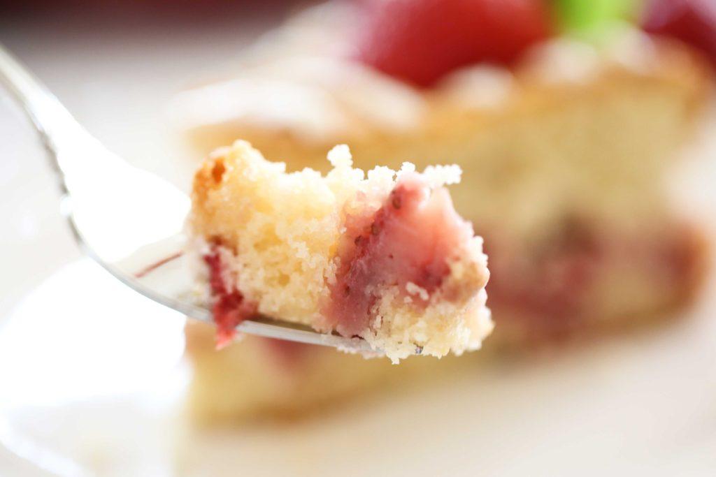 a bite of Strawberry Breakfast Cake