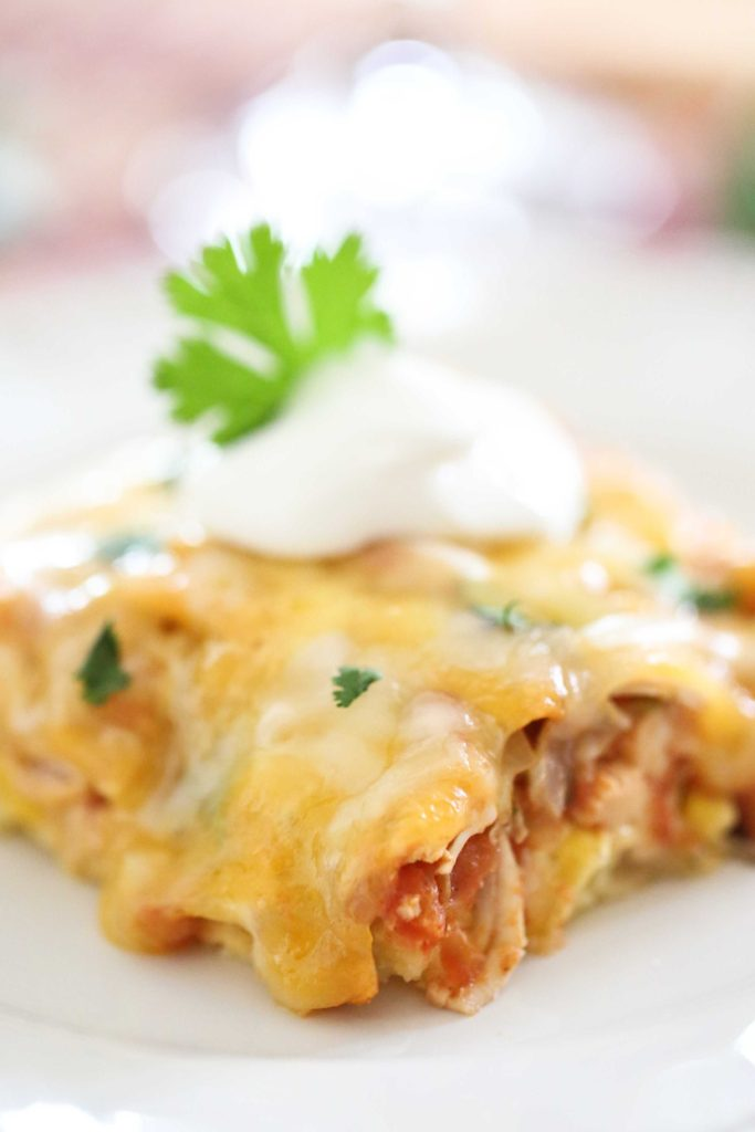 Cheesy Chicken Tamale Pie