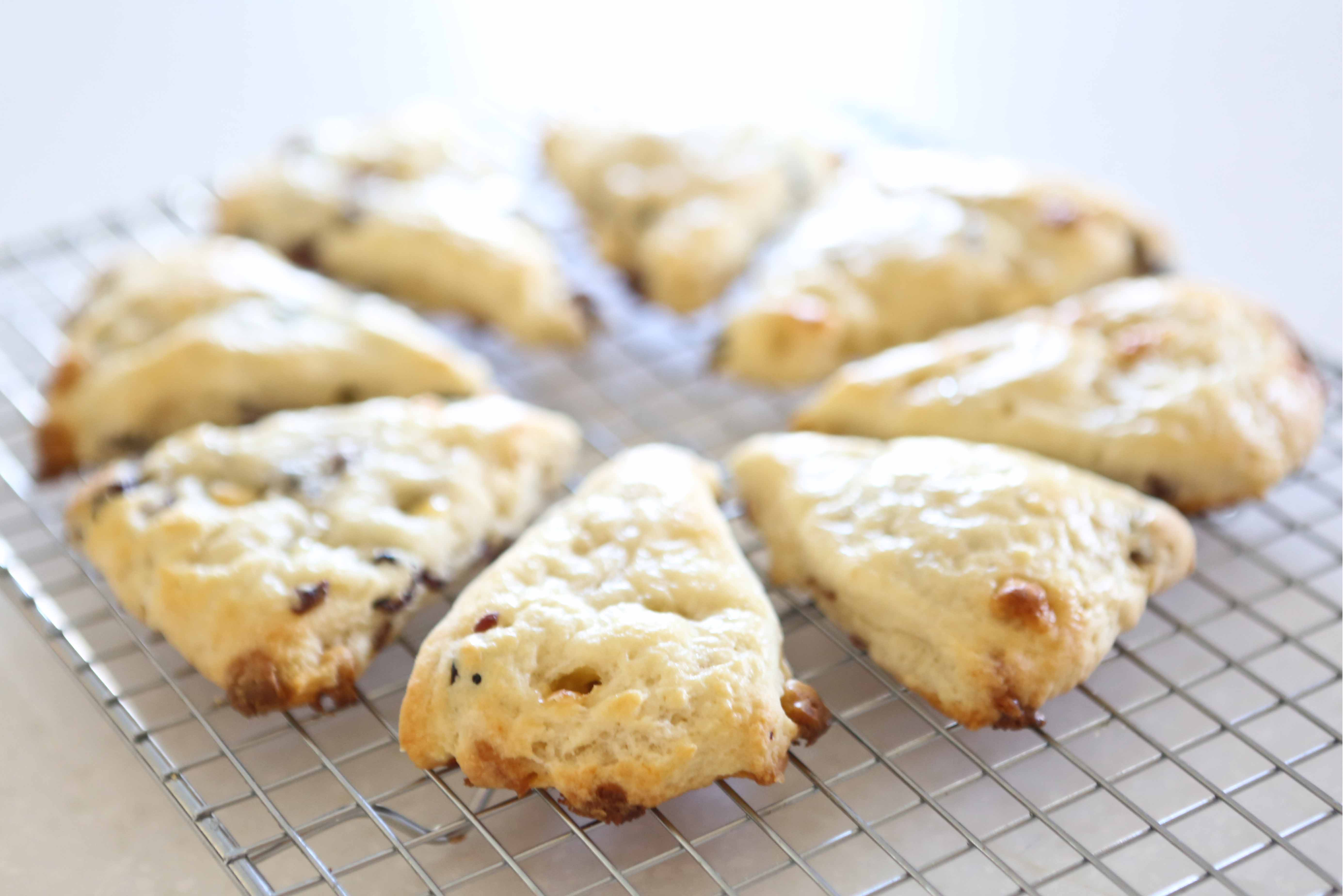 White Chocolate Cranberry English Tea Scones
