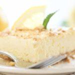 Piece of Lemon Cream Frozen Dessert