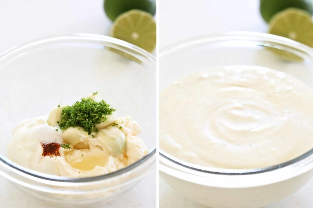 Garlic-Lime Sauce for Fish Tacos