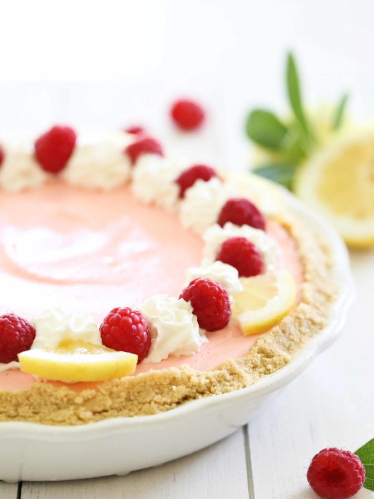 Raspberry Lemonade Ice Cream Pie Recipe