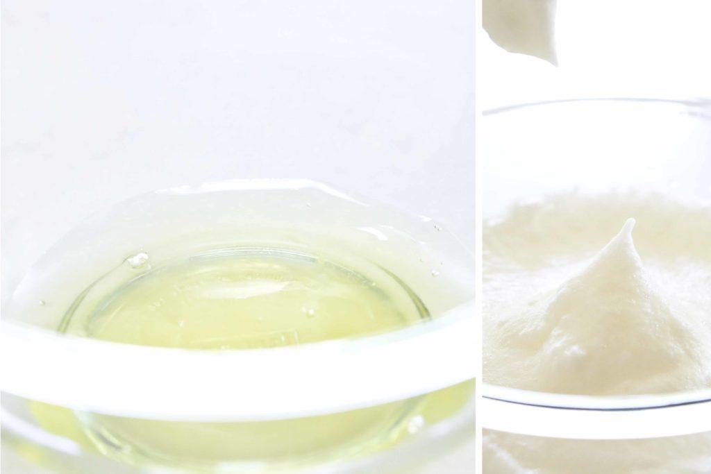 Egg whites for Chocolate Tiramisu