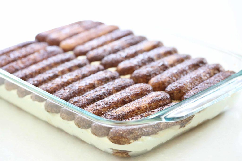 Assembling Chocolate Tiramisu