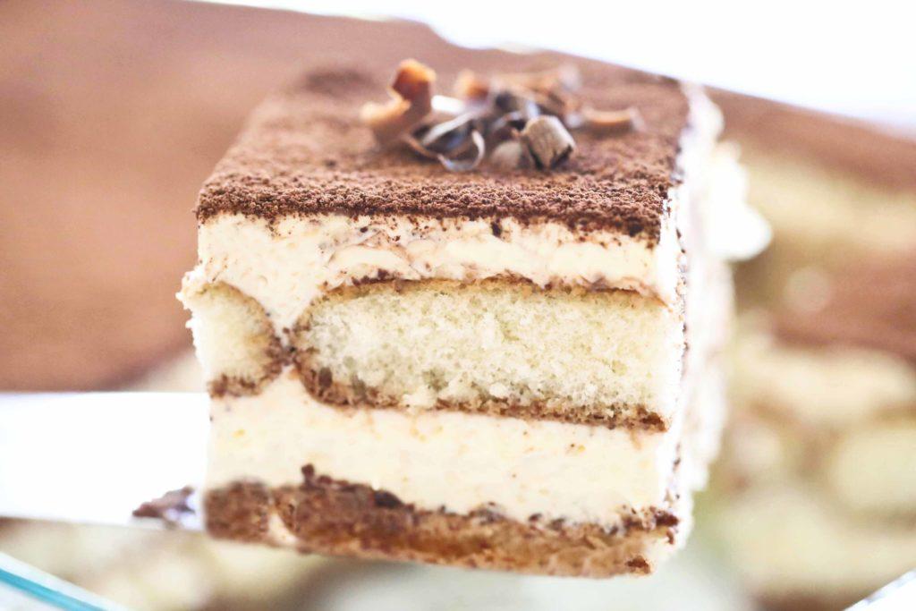 Serving of homemade Chocolate Tiramisu