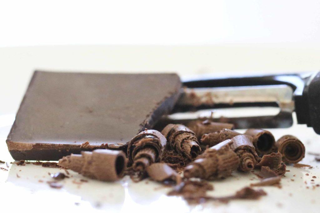 Making Chocolate Curls for Chocolate Tiramisu