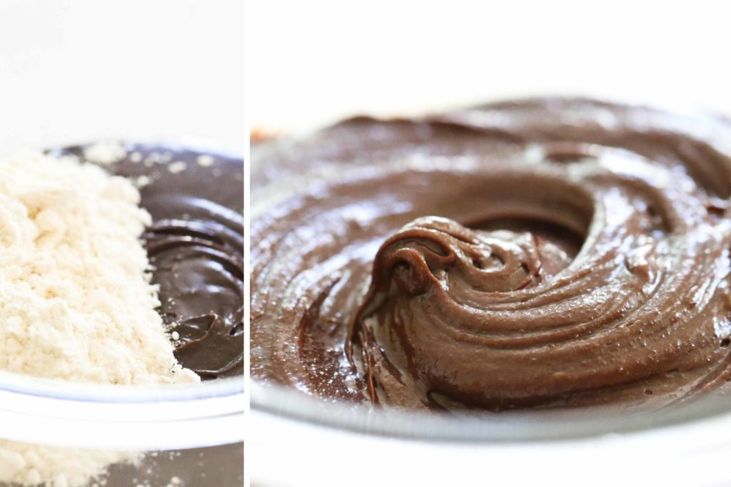 Peanut Butter Cup Brownies dough
