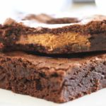 Bite of Peanut Butter Cup Brownies