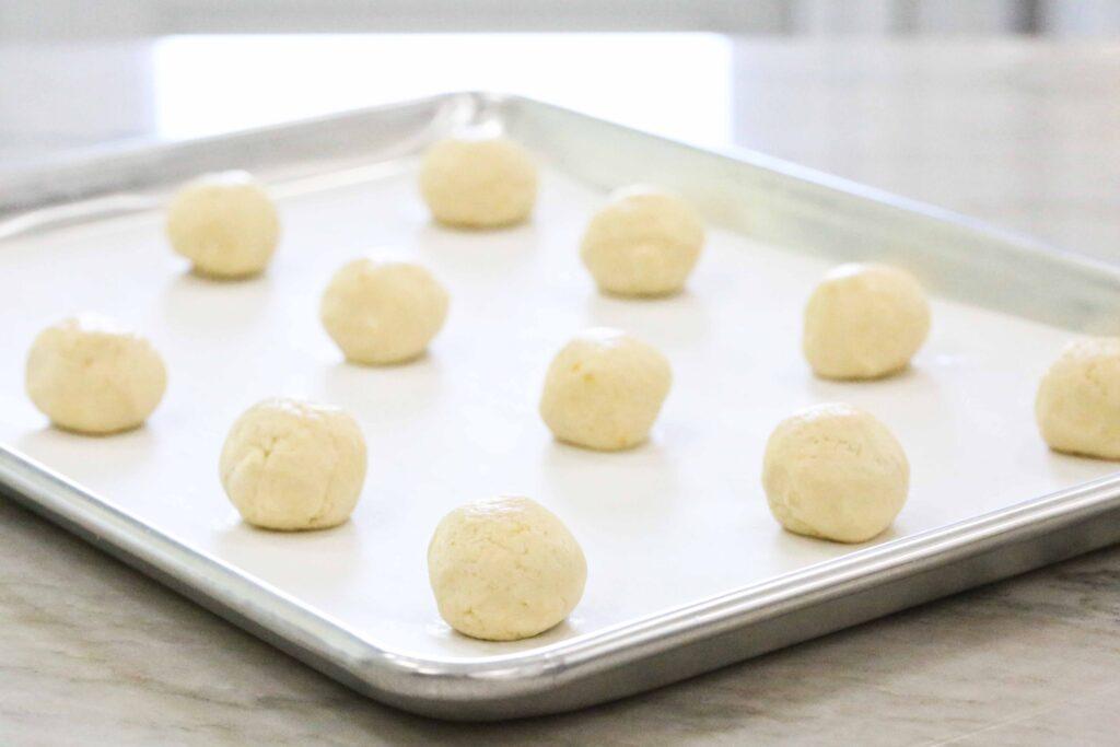 Lemon Cookie dough balls