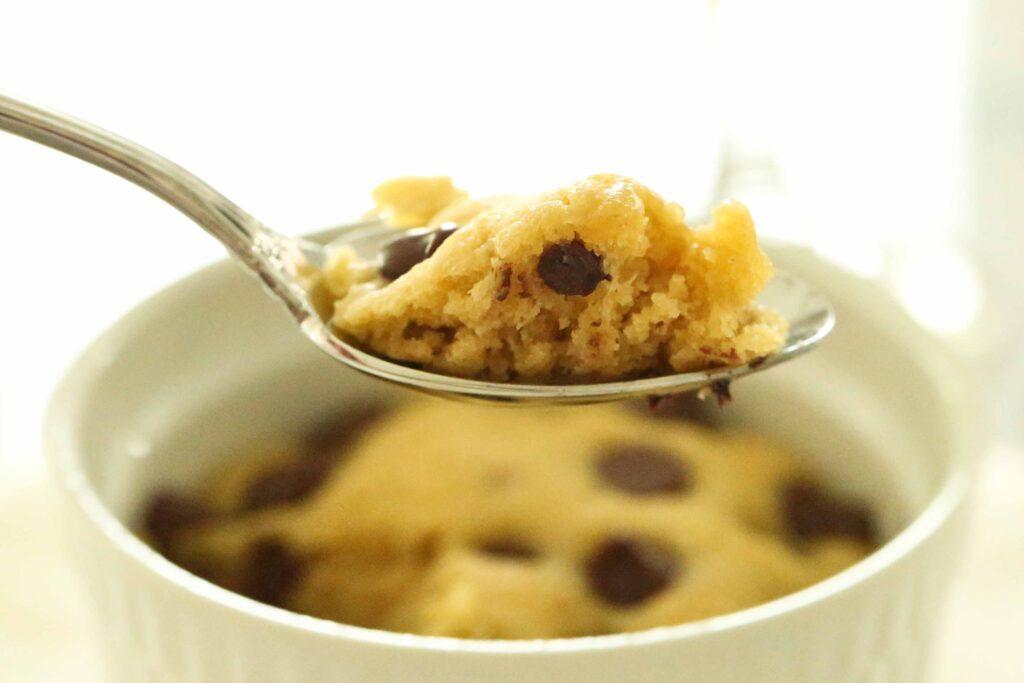 Spoonful of Chocolate Chip Mug Cookie