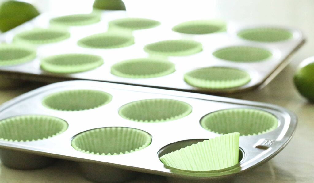 Muffin tins with paper liners
