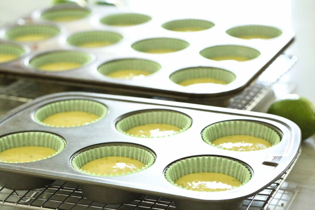 Quick Key Lime Tarts, baked
