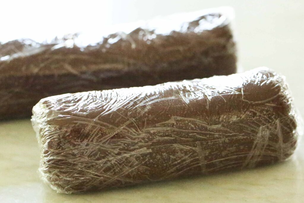 rolls of homemade fudge