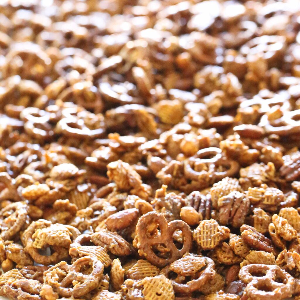 Nutty Caramel Chex Mix