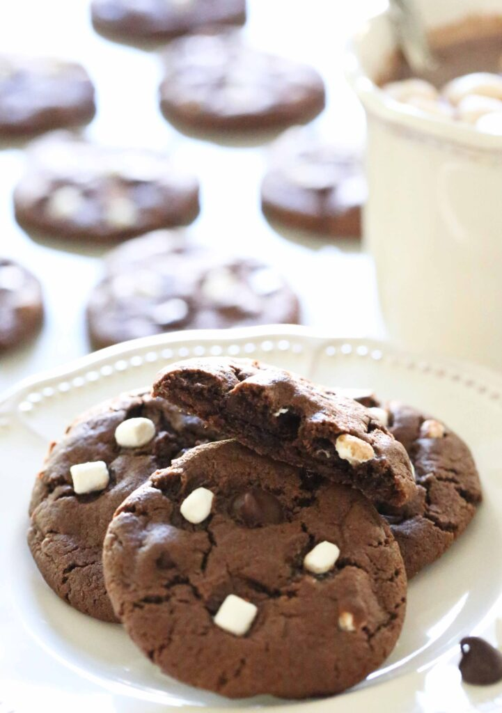 Hot Cocoa Cookies with Hot Cocoa