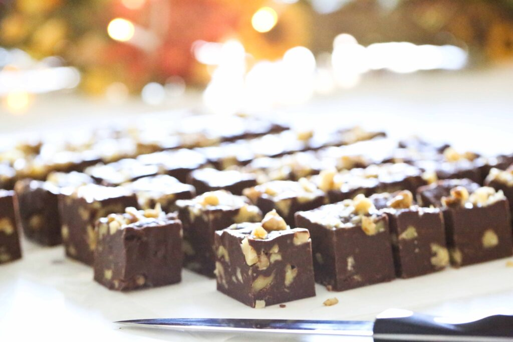 Slices of Five-Minute Five-Ingredient Fudge