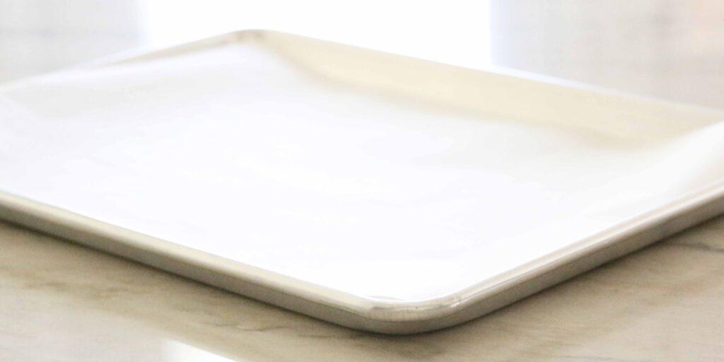 Prepared Cookie sheet for Salted Caramel Cookies