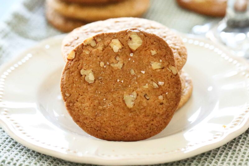 Salted Caramel Cookies on a plate