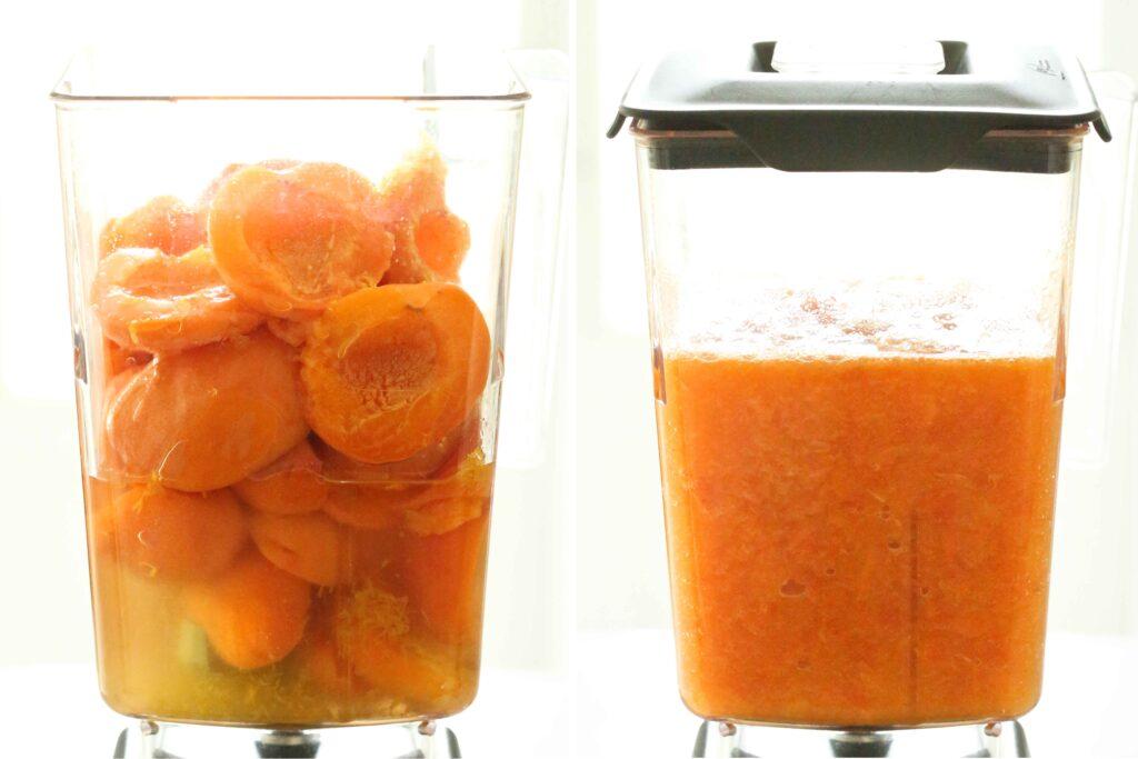Blending apricots