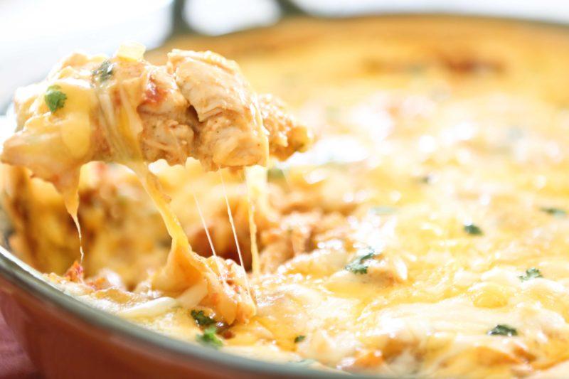 Cheesy Chicken Tamale Pie