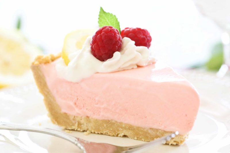 homemade Raspberry Lemonade Ice Cream Pie